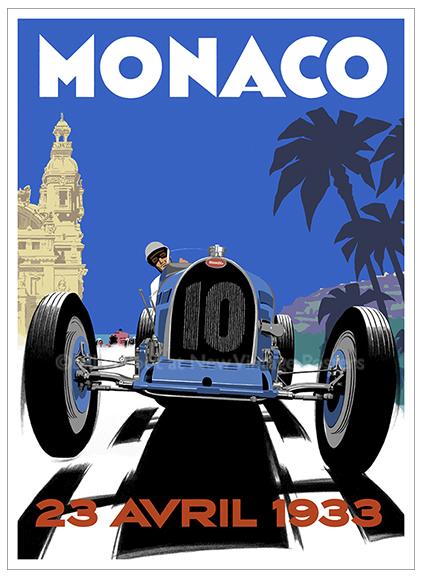 Bugatti Type 51 Monaco poster